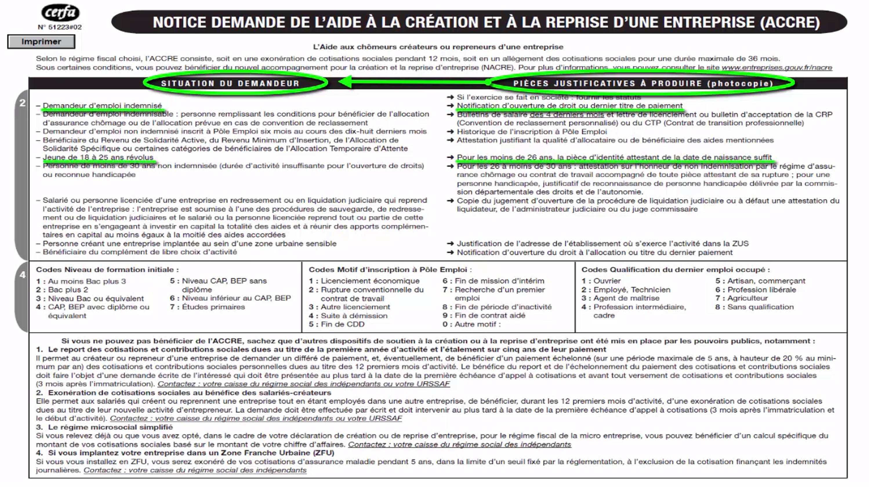 dossier accre notice